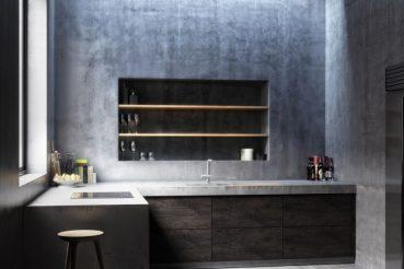 3d Ontwerp van een minimalistische keuken