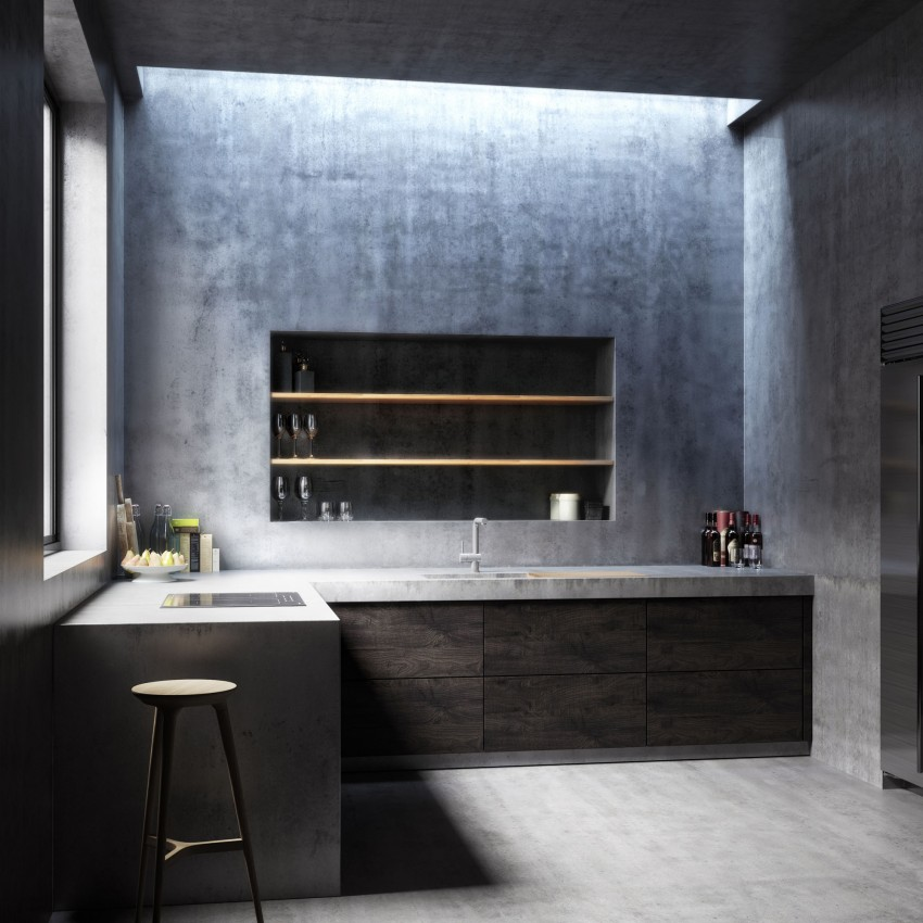3d ontwerp van een minimalistische keuken homease for 3d ruimte ontwerpen