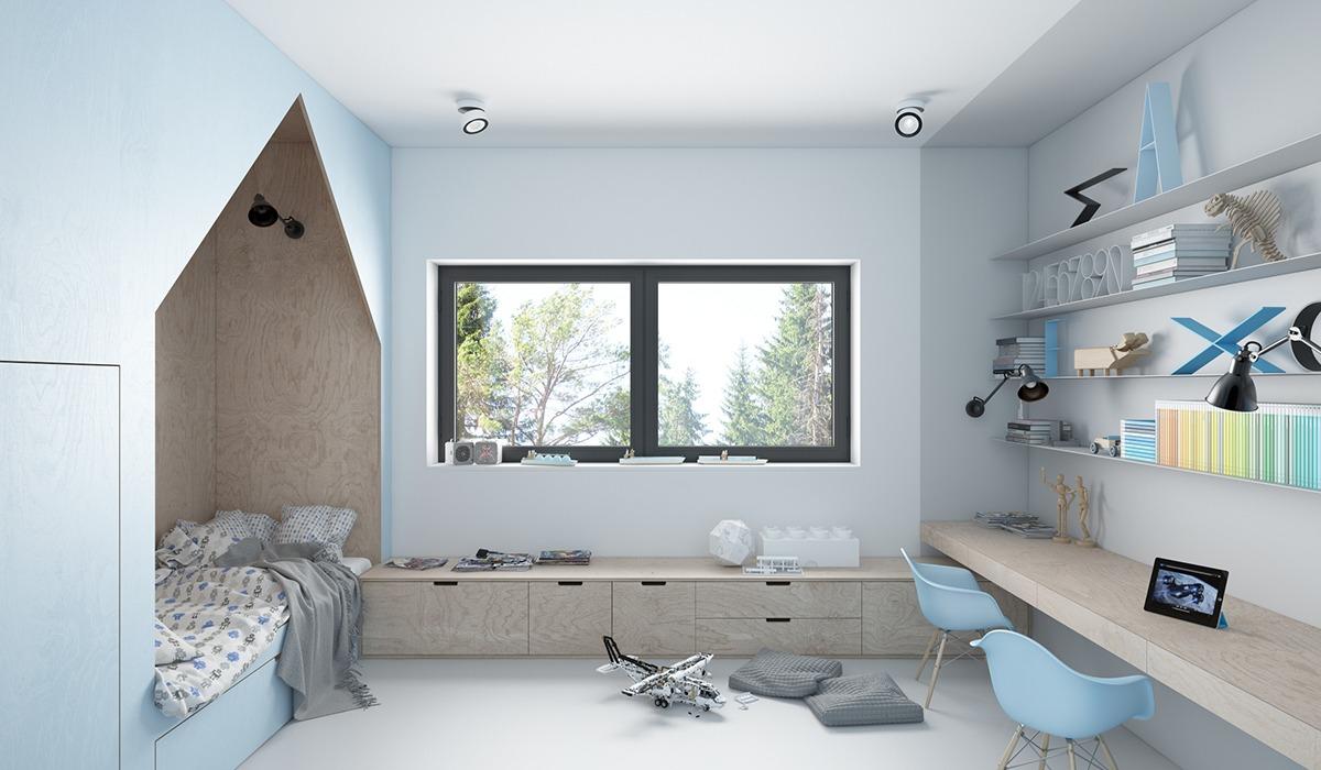 3d ontwerpen van een mooie babyblauwe kinderkamer homease for 3d interieur ontwerpen