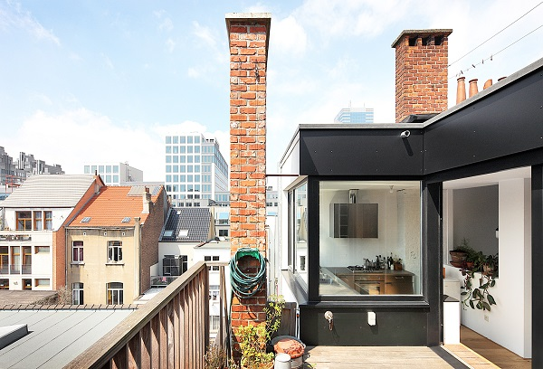 Geweldige dakwoning in Brussel