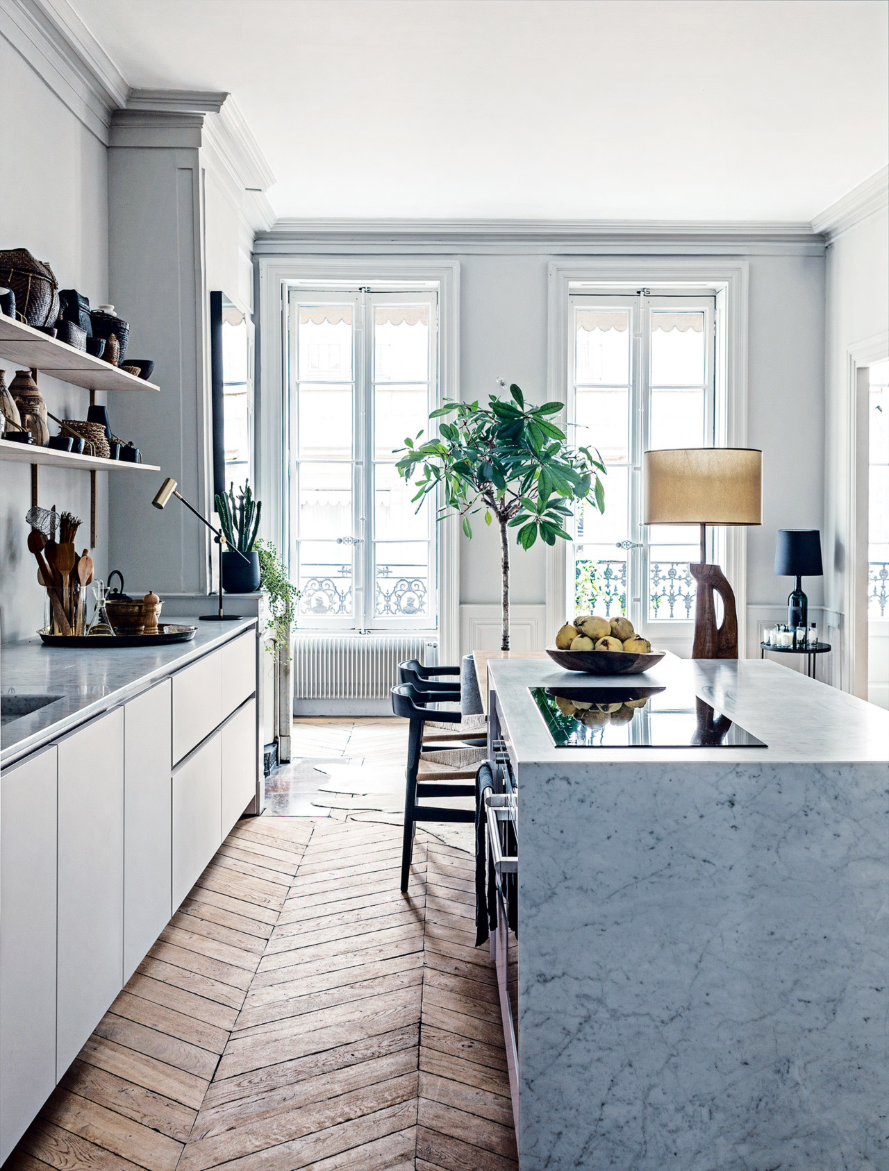 Kookeiland inspiratie homease for Parisian style kitchen ideas