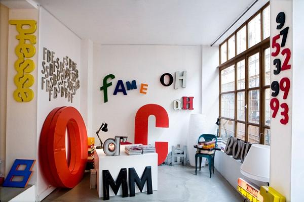 Letters als interieur decoratie