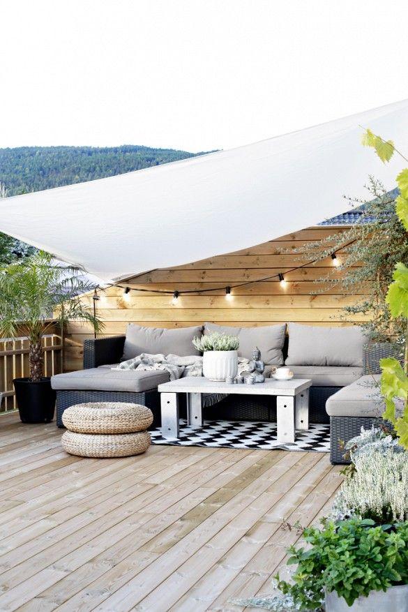 Loungeset met zonnedoek