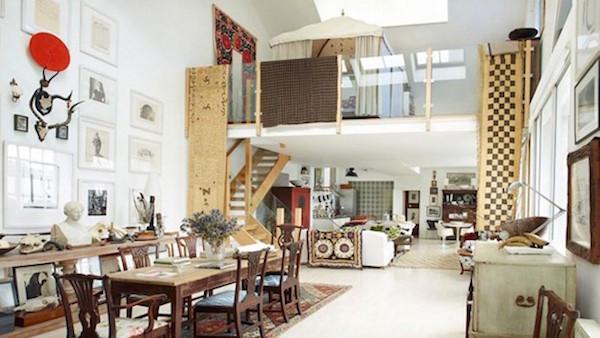 Over de top inrichting van een Loft woning in Londen