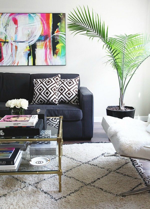 Palm plant in de inrichting