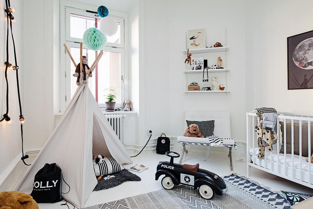 Een tipi tent in de kinderkamer homease