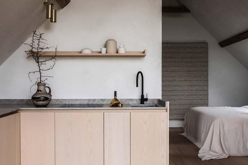 TypeO Loft lichte houten keuken marmeren werkblad