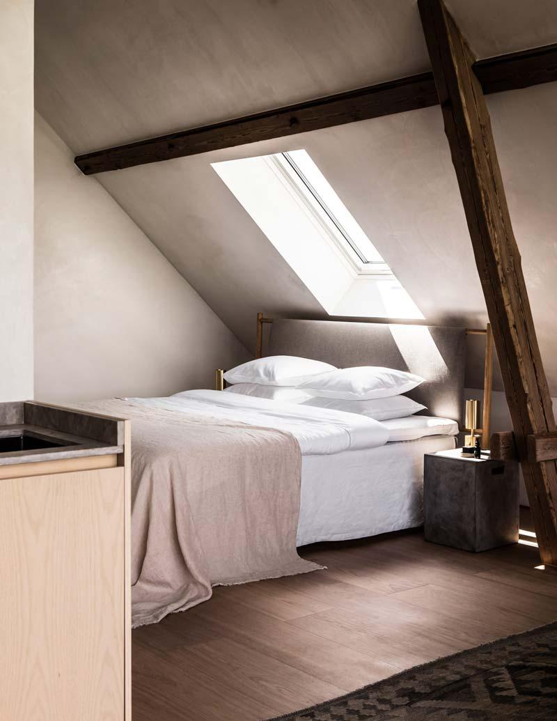 TypeO Loft slaapkamer zolder betonlook muren