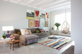 vintage boucherouite vloerkleden modern interieur