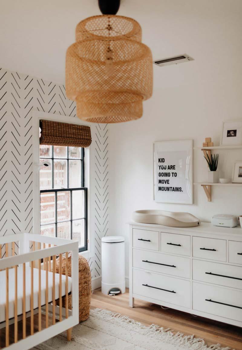 babykamer inspiratie rotan hanglamp ikea