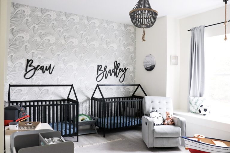 babykamer inspiratie strand thema tweeling