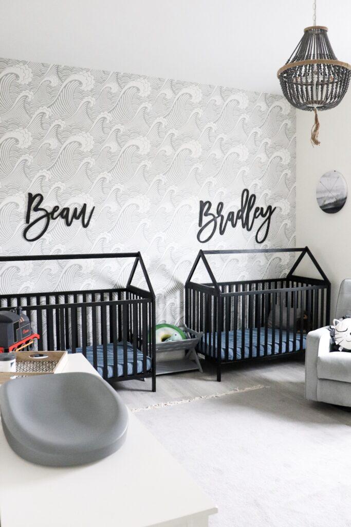 babykamer inspiratie tweeling bedden