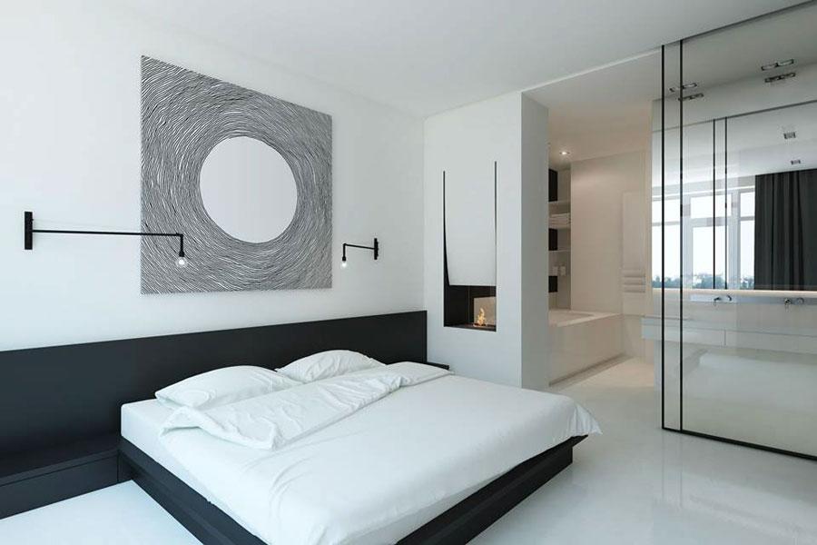 Badkamer ensuite minimalistisch ontwerp