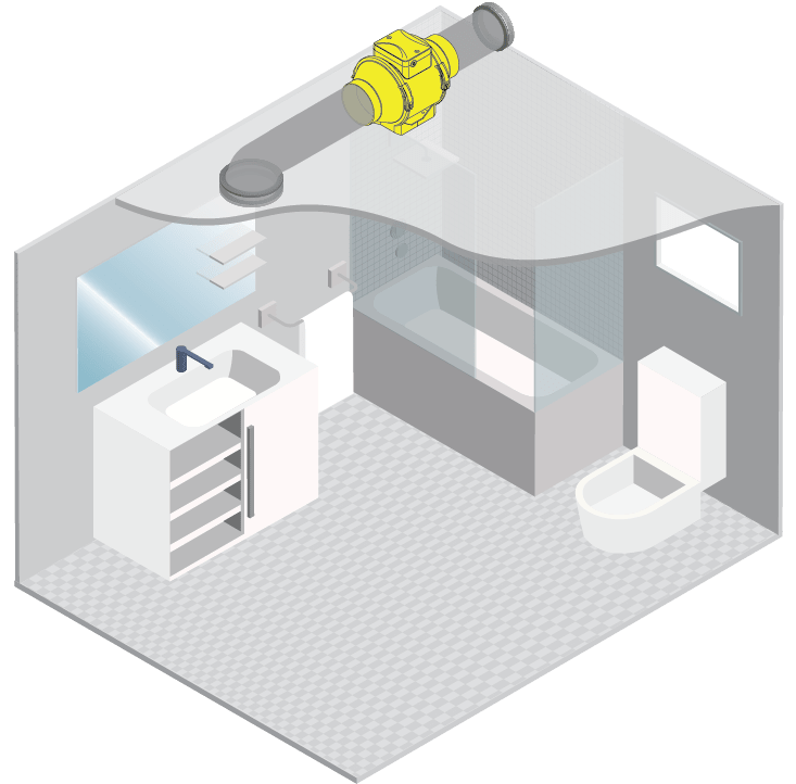 badkamer inline ventilator