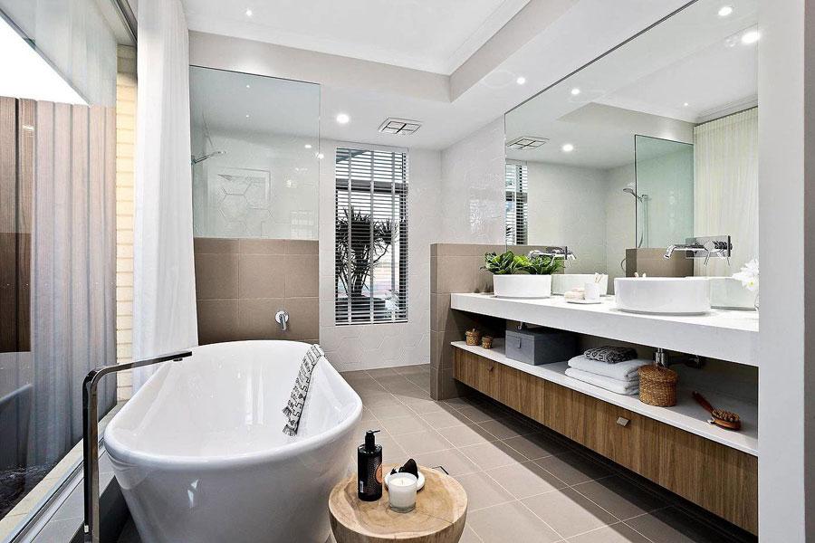 Badkamer modern ontwerp en moderne voorzieningen