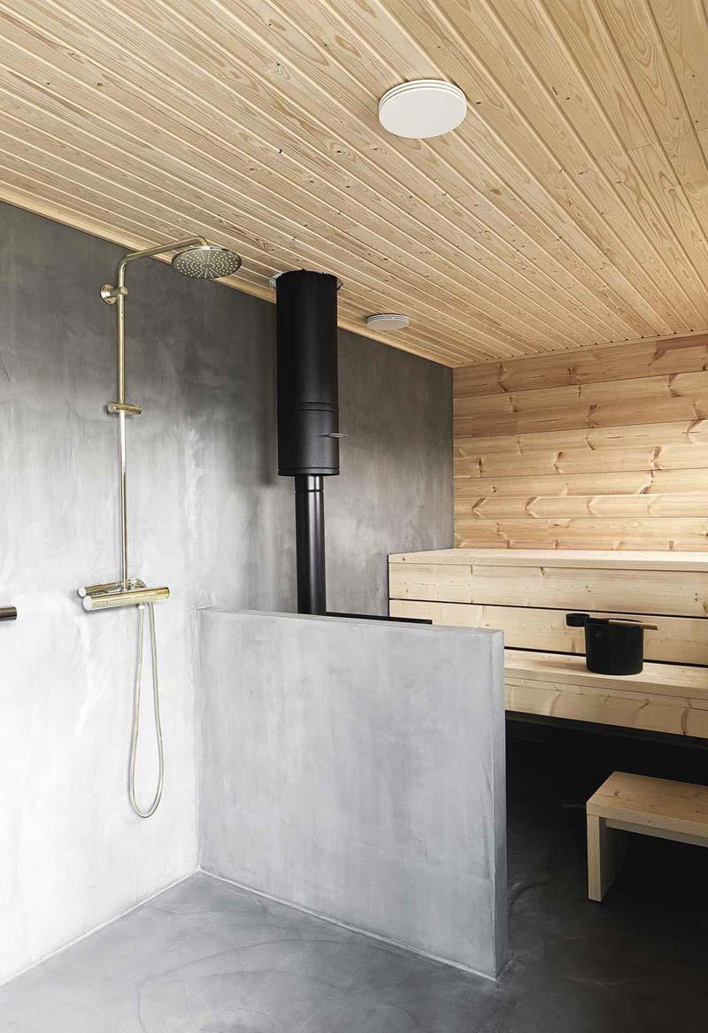 badkamer muur betonlook verven
