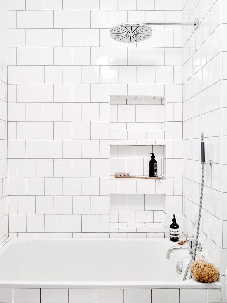 Badkamer nisjes muur