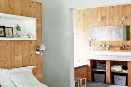 Badkamer van verbouwde stadsboerderij