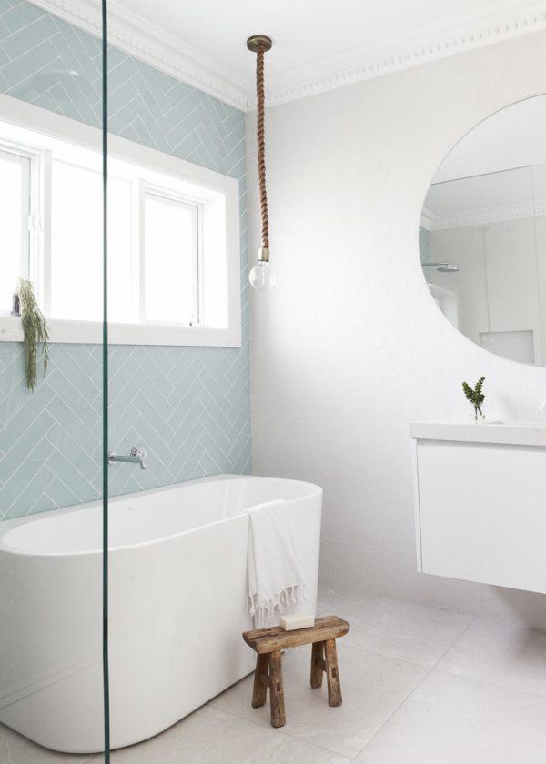 badkamerrenovatie muur stucen verven