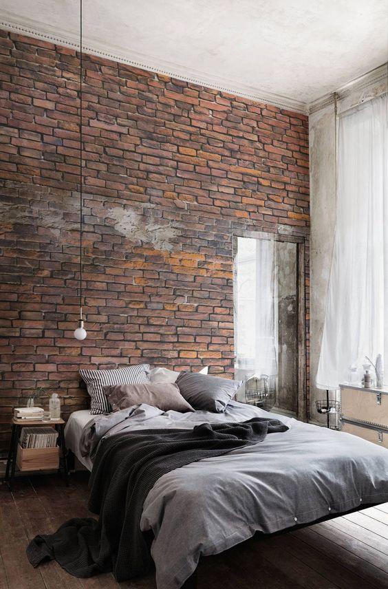 Bakstenen muur homease - Bakstenen muur woonkamer ...