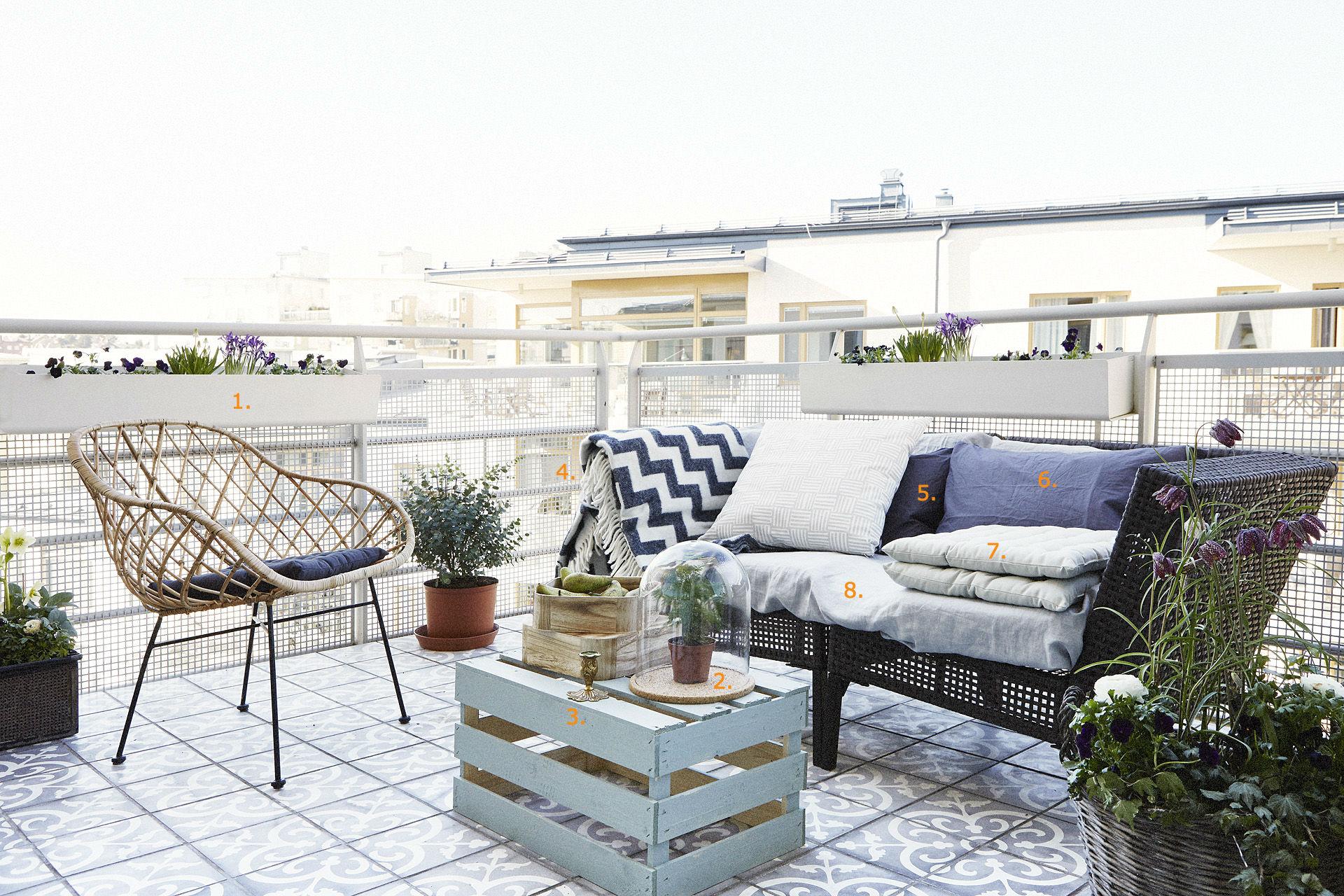 Houten Balkon Meubels : Balkon tegels inspiratie homease