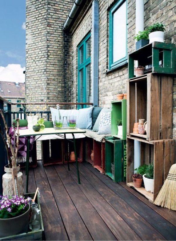 Bank inspiratie op balkon