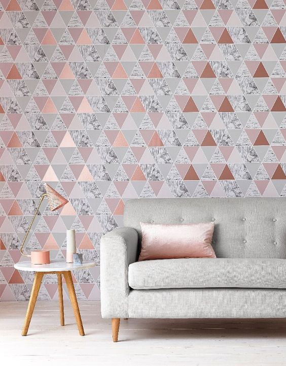 Behang met geometrisch patroon