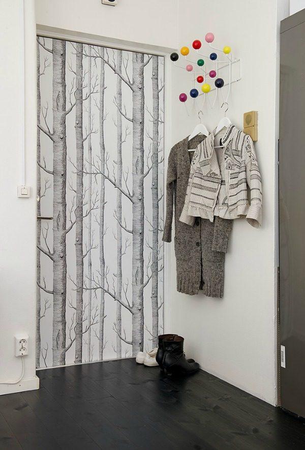 Behang voor de deur