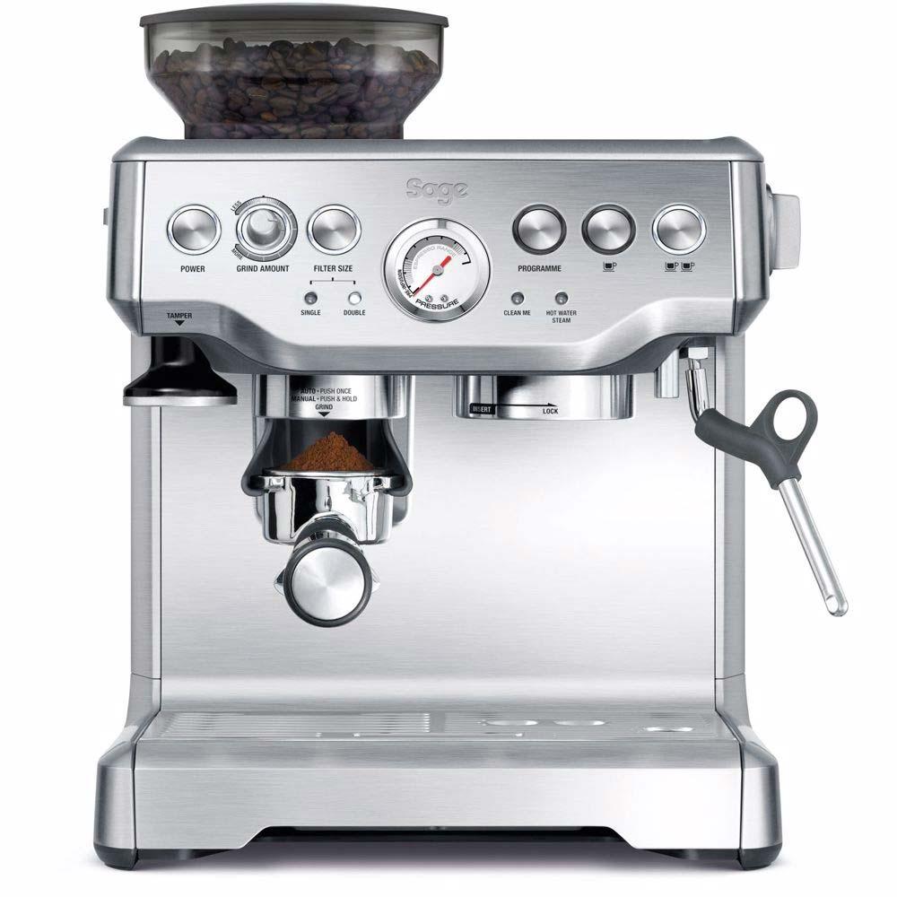 beste koffiemachine thuis Sage Barista Express