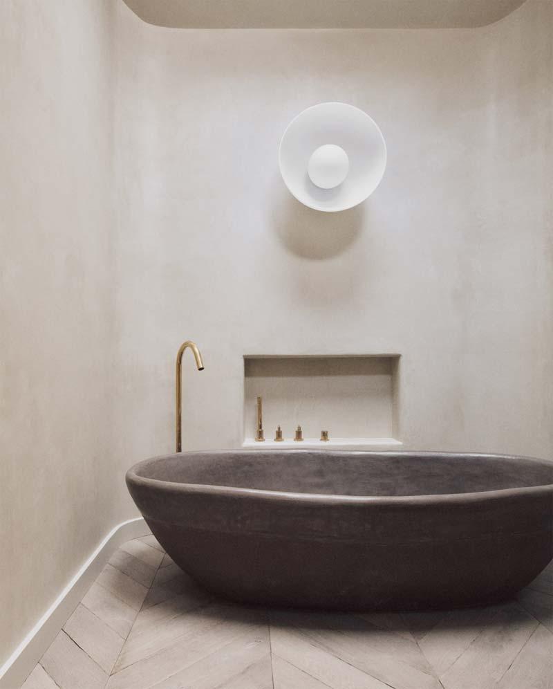 betonlook bad tadelakt badkamer