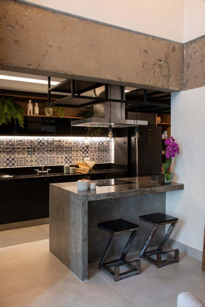 betonnen structuur keuken