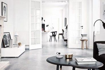 Betonvloer in woonkamer