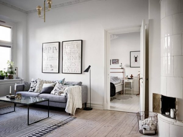 Bijzondere Scandinavische slaapkamer uit Göteborg