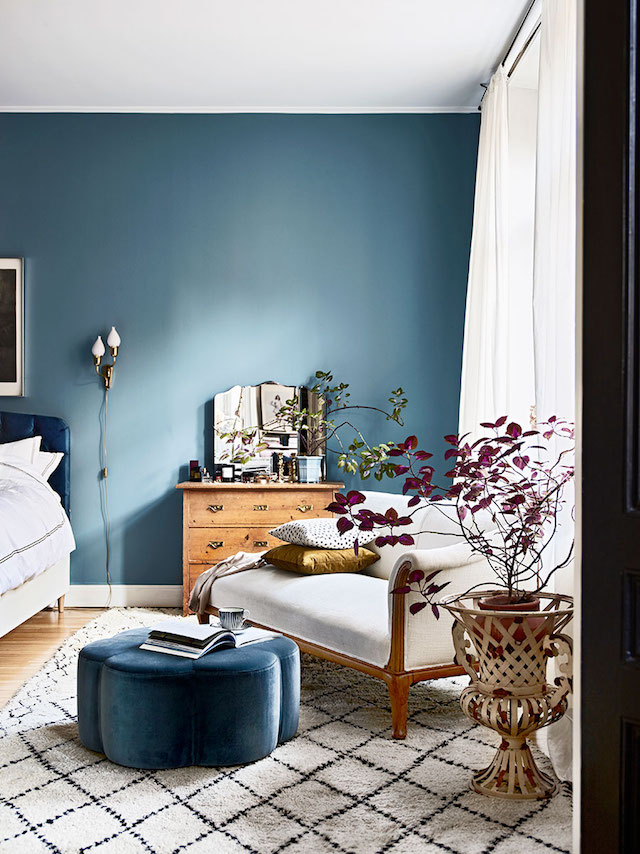 Blauwe muur Farrow & Ball - Stone Blue