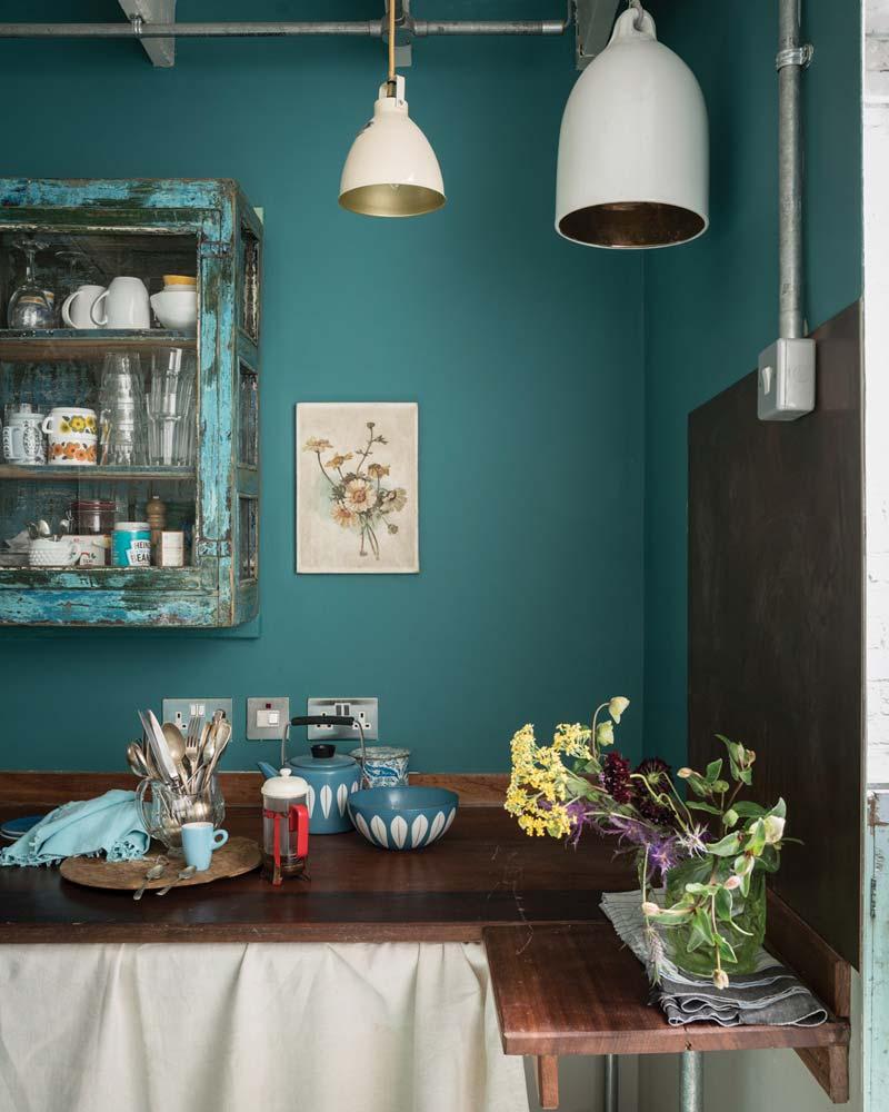 Blauwe muur Farrow & Ball - Vardo