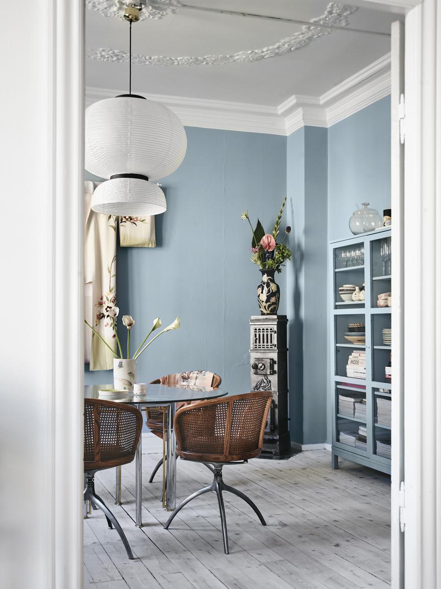 blauwe muur flexa grijsblauw strak