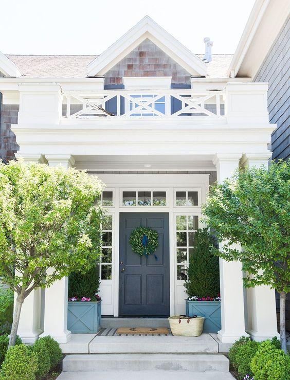 blauwe voordeur