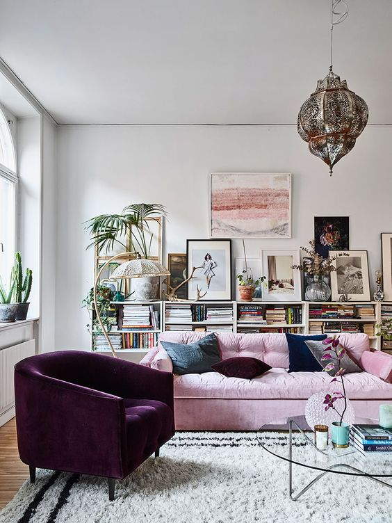 Boekenkast in de woonkamer