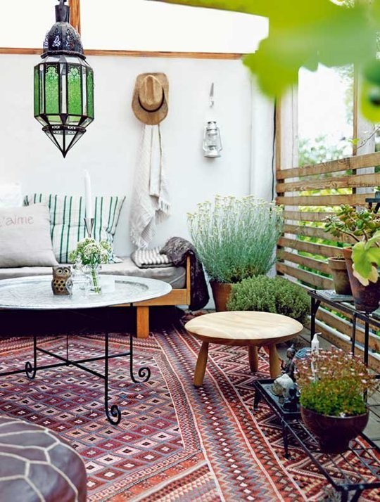 Bohemian balkon inspiratie