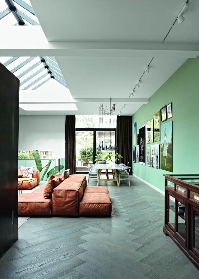 Bruin Leren Design Bank.10x Bruin Leer In Het Interieur Homease