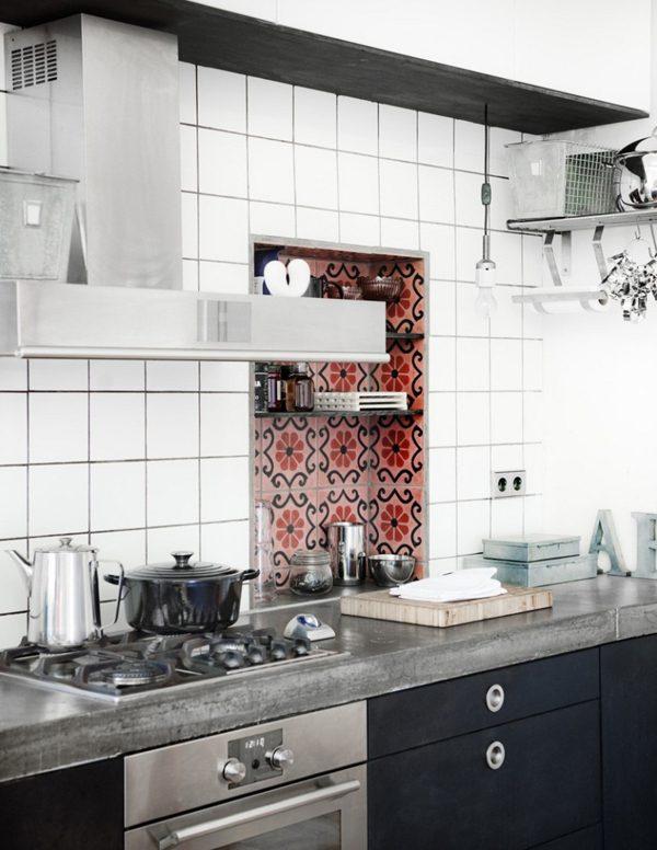 cementtegels keukenwand