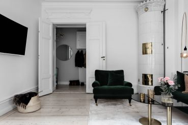 Dit charmante appartement in het centrum van Stockholm is een mustsee!