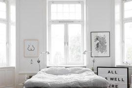 Clean klassieke slaapkamer met een modern tintje