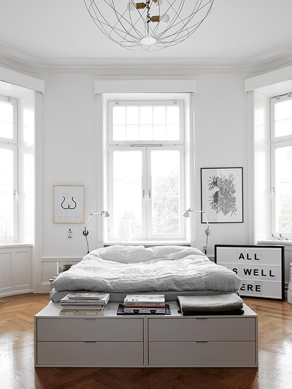 ... Klassiek interieur » Clean klassieke slaapkamer met een modern tintje