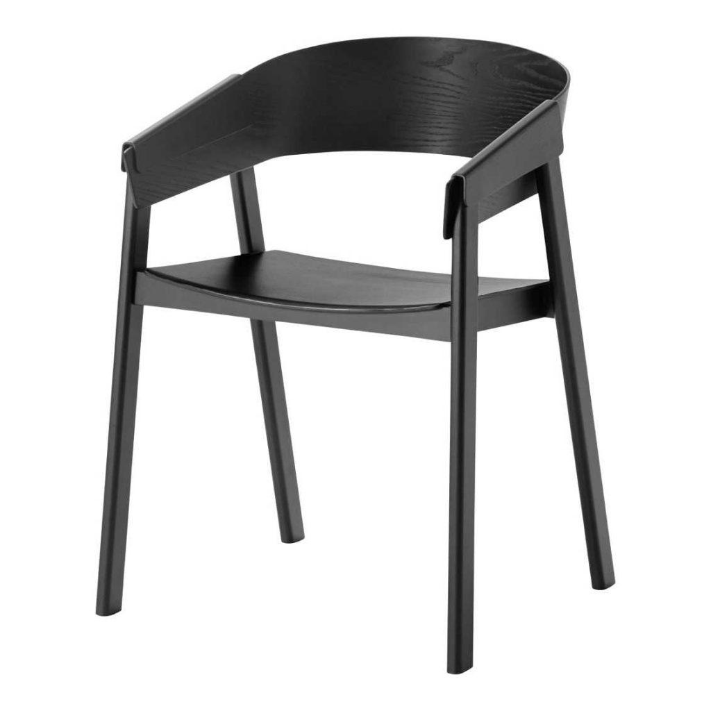 Zwarte Muuto Cover stoel