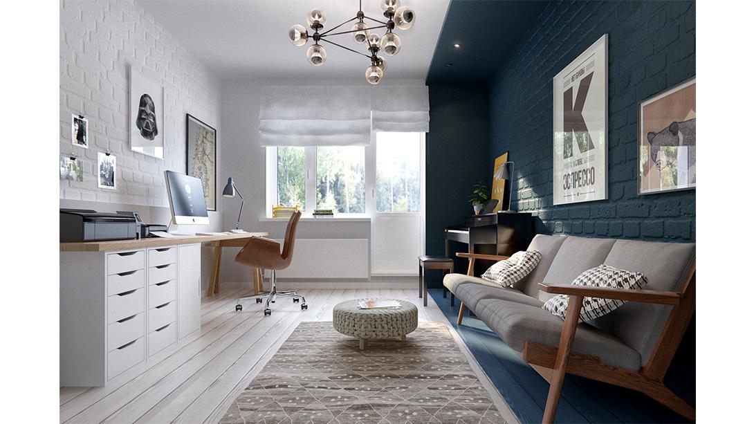 Creatief thuiskantoor homease - Thuis kantoor ...
