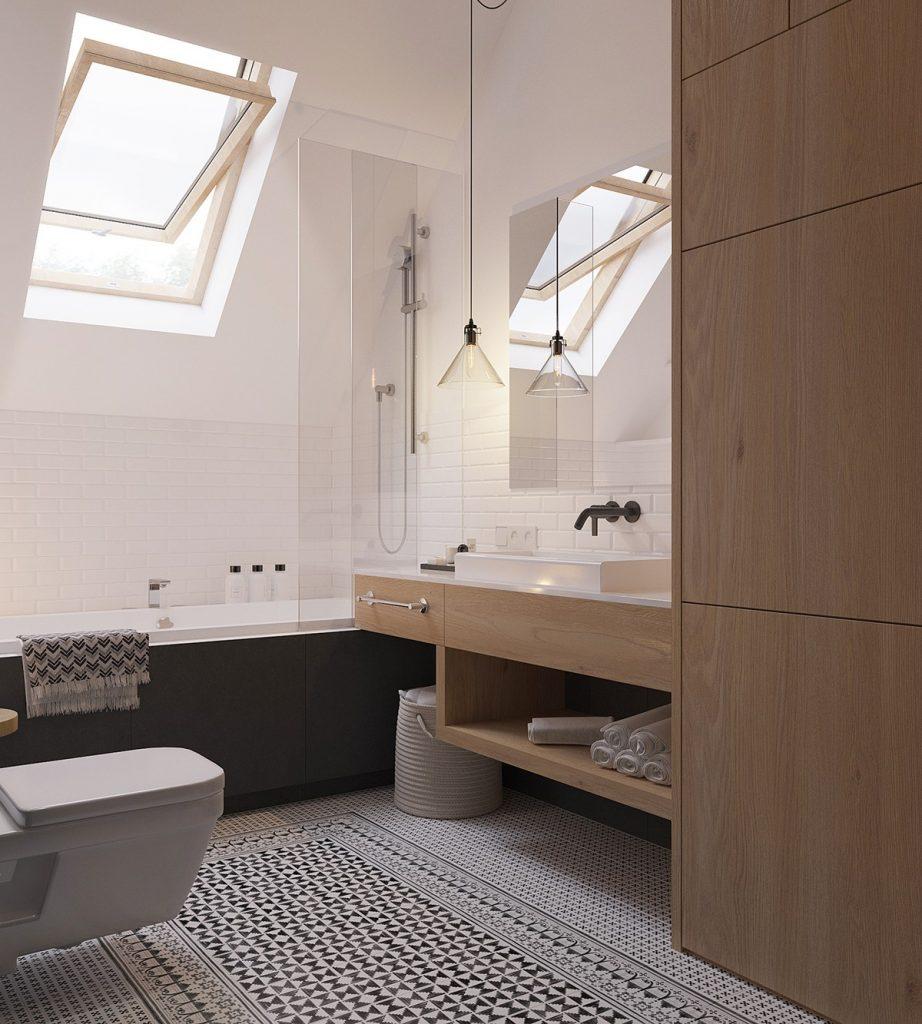 dakraam badkamer modern
