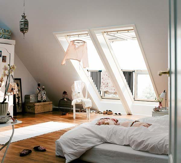 Dakramen op zolder slaapkamer
