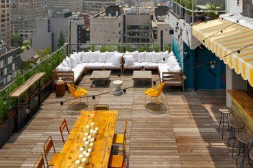 Dakterras bar van Hotel Hugo in New York