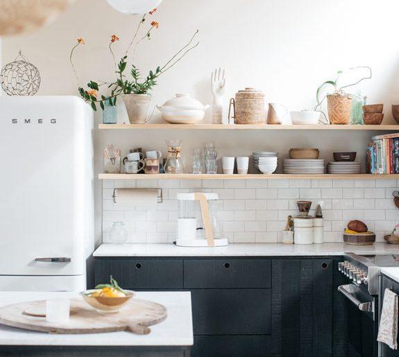 De mooie vintage landelijke keuken van Erin